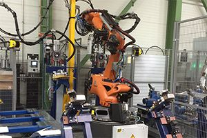 Roboter Falzzelle