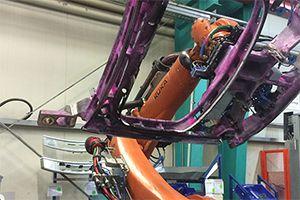 Roboter Schweißzelle